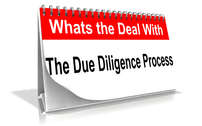In the Interest of Due Diligence